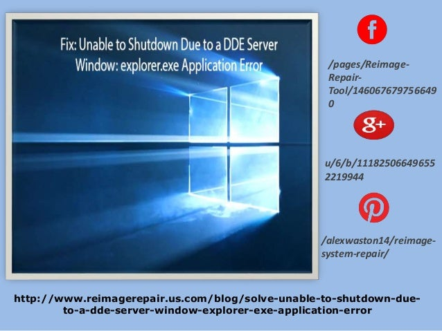 Fix: Unable to Shutdown Due to a DDE Server Window: Explorer.exe Appl…