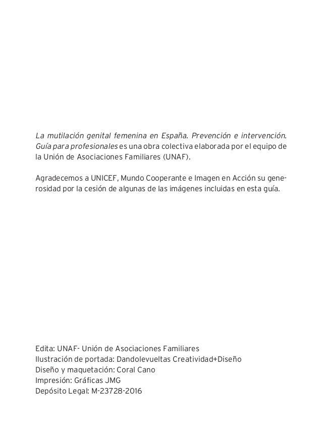 """""""La MGF en España. Prevención e intervención"""" - Guía para profesionales - Edición 2016 (UNAF) Slide 3"""