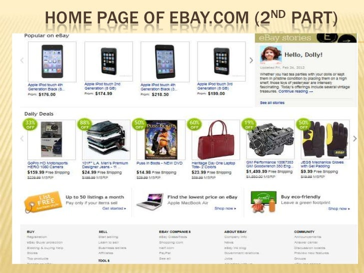 HOME PAGE OF EBAY.COM (2ND PART)