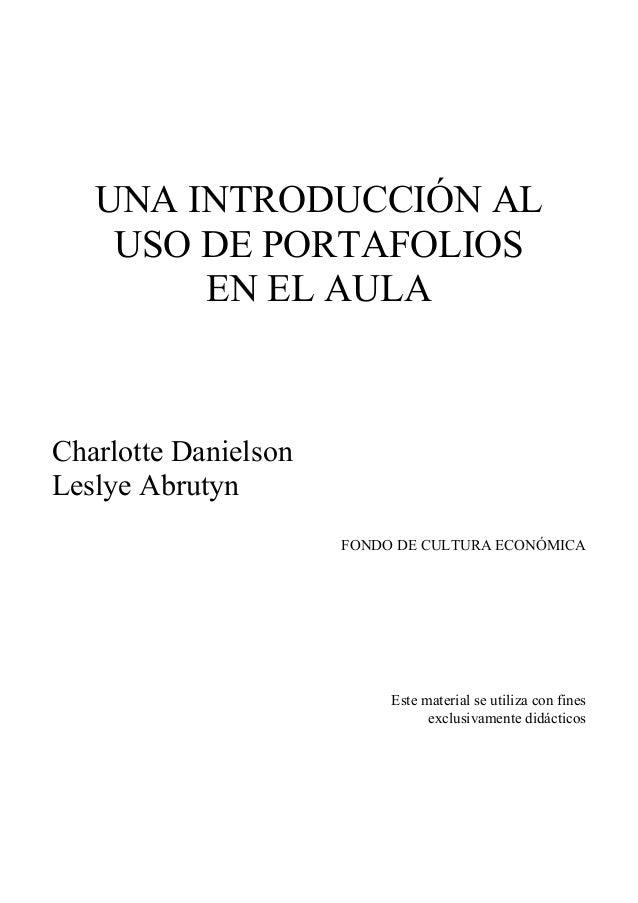 Una introduccion al uso de portafolios en el aula, charlotte danielso…