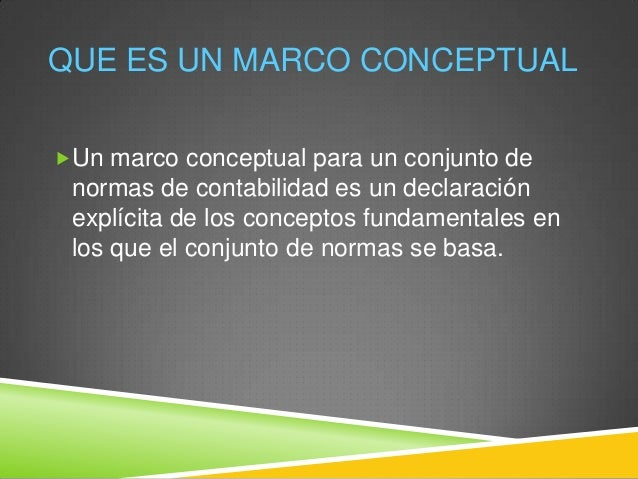 Una marco comun de normas contables Slide 3