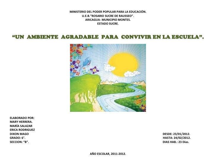 """MINISTERIO DEL PODER POPULAR PARA LA EDUCACIÓN.                         U.E.B.""""ROSARIO SUCRE DE RAUSSEO"""".                 ..."""