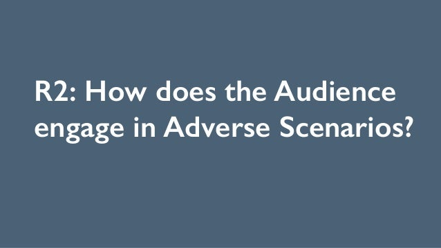 R2: How does the Audience engage in Adverse Scenarios?