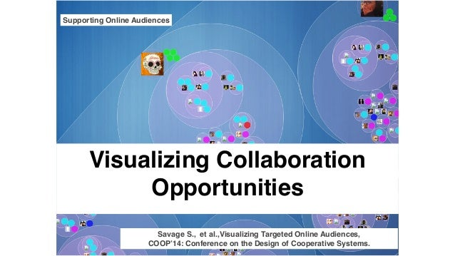Visualizing Collaboration Opportunities Supporting Online Audiences Savage S., et al.,Visualizing Targeted Online Audience...