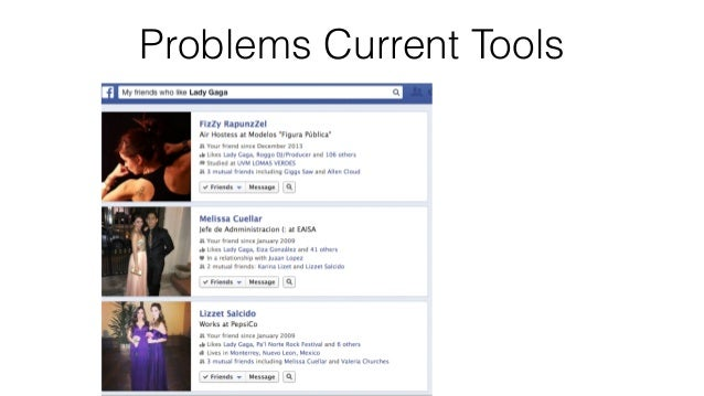 158 Problems Current Tools • Long lists make it  difficult to gauge  the traits of their  audience