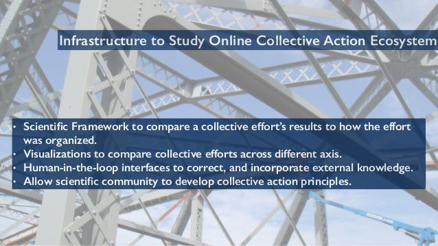 68 Infrastructure to Study Online Collective Action Ecosystem • Scientific Framework to compare a collective effort's resul...