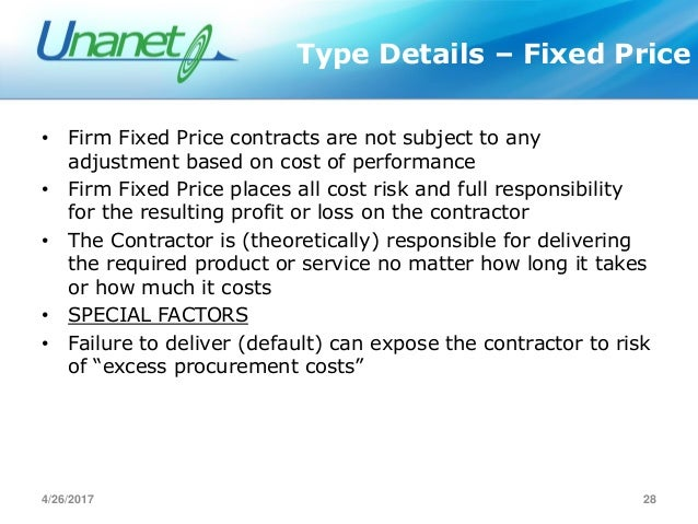 federal contracting activties and contract types Assignment 5: federal contracting activities and contract types write a six to eight (6-8) page paper note: refer to scenarios and readings from previous weeks in.