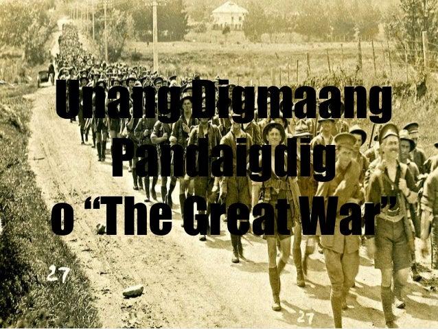 """Unang Digmaang Pandaigdig o """"The Great War"""""""