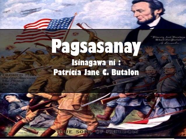 Pagsasanay Isinagawa ni : Patricia Jane C. Butalon