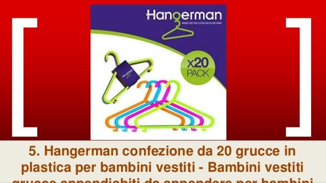 /Bambini vestiti grucce appendiabiti da appendere per bambini bambini portaoggetti da appendere Hangerman confezione da 100/grucce in plastica per bambini vestiti/