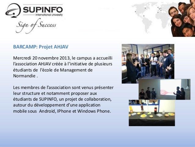 Un an sur le campus de SUPINFO Caen Slide 2