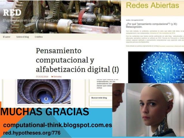 Conferencia Pensamiento digital: Una nueva alfabetizacion