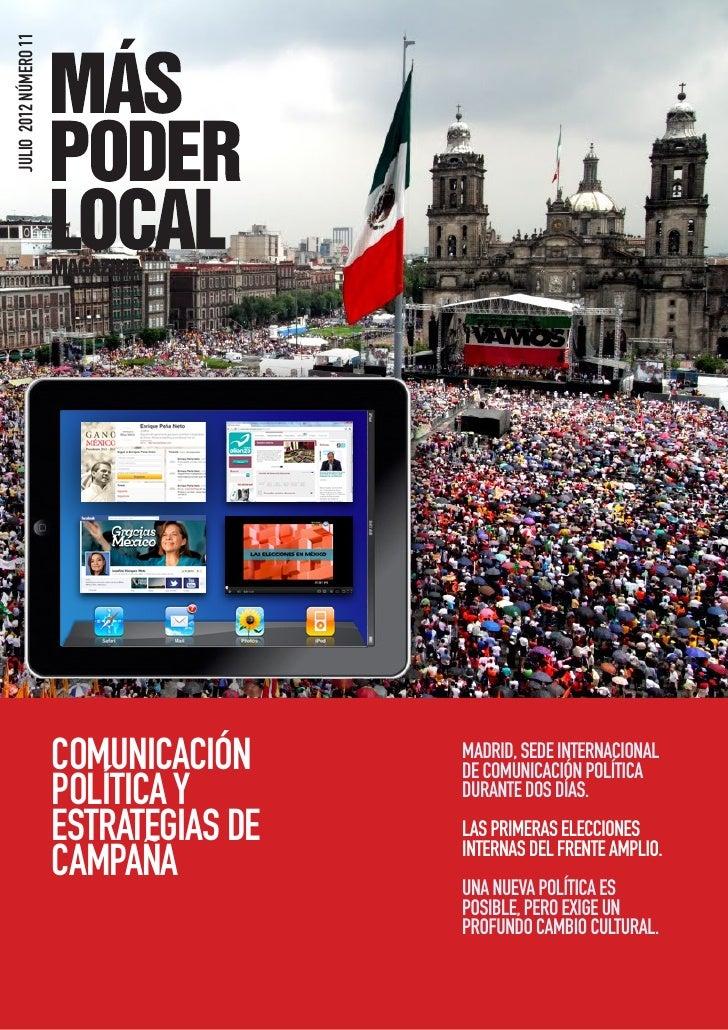 JULIO 2012 NÚMERO 11                       COMUNICACIÓN     MADRID, SEDE INTERNACIONAL                                    ...