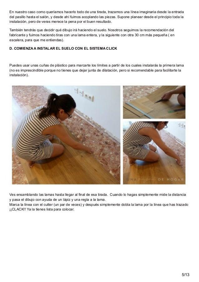 Colocar suelo vinilo finest suelo de vinilo with poner for Instalacion suelo vinilico click