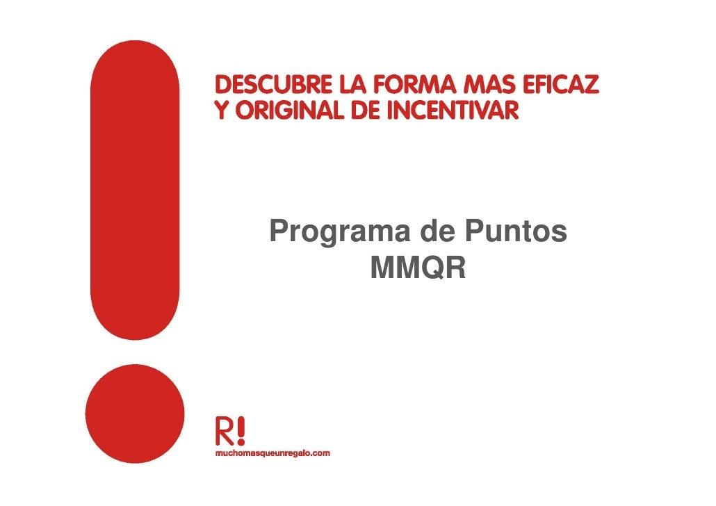 Programa de Puntos       MMQR