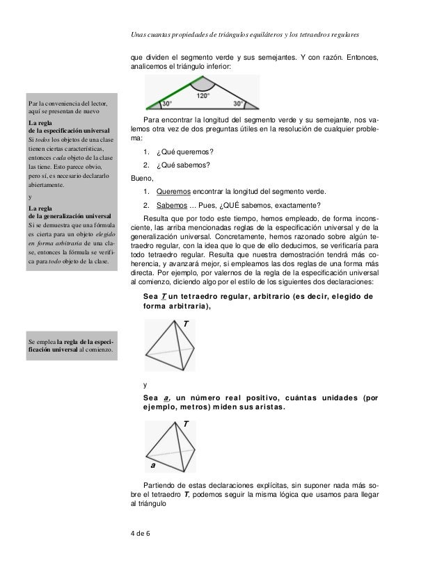 Ejemplos de las bases para demostraciones matemáticas, usando unas cu…
