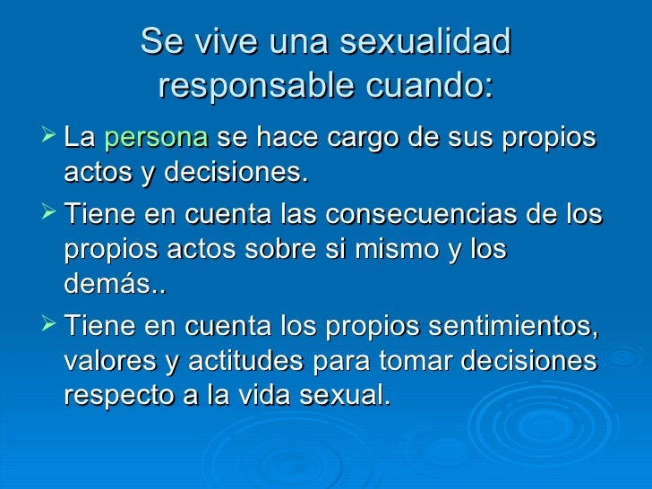 frases sexualidad sana y responsable in Essex