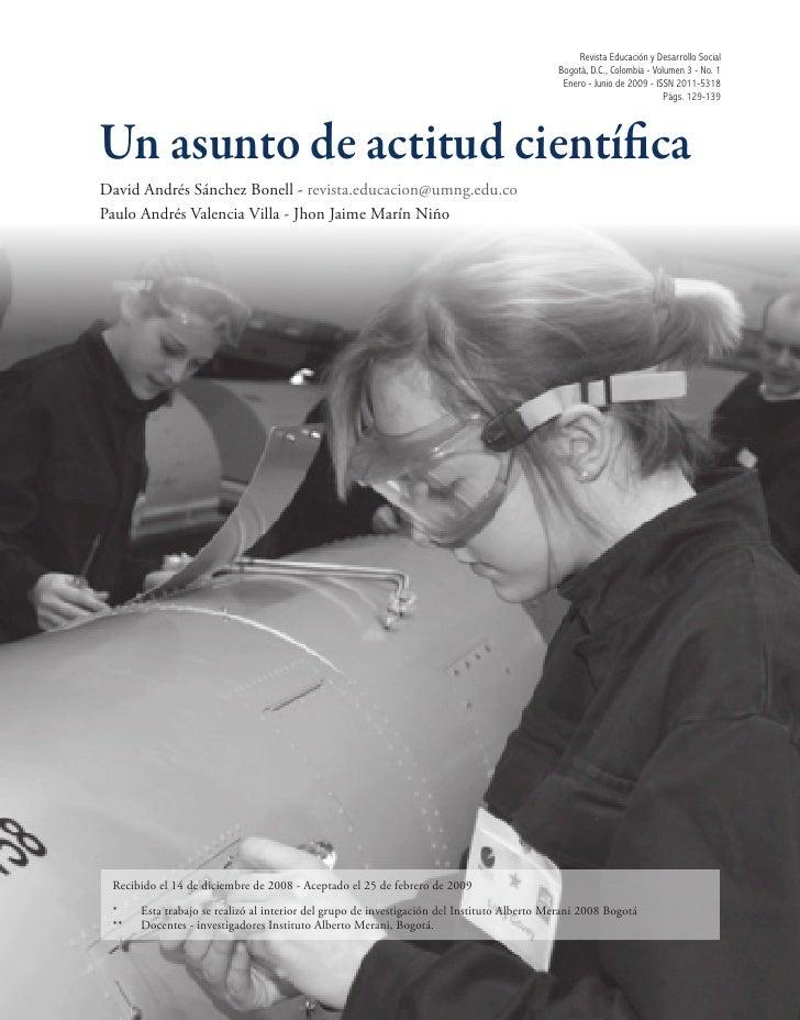Revista Educación y Desarrollo Social                                                                                     ...