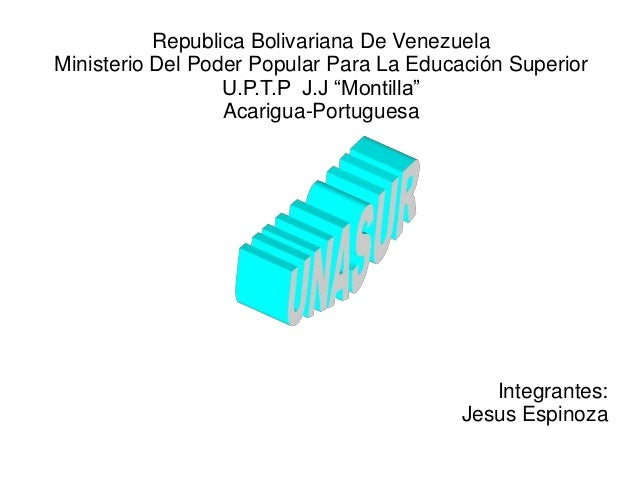 "Republica Bolivariana De Venezuela Ministerio Del Poder Popular Para La Educación Superior U.P.T.P J.J ""Montilla"" Acarigua..."