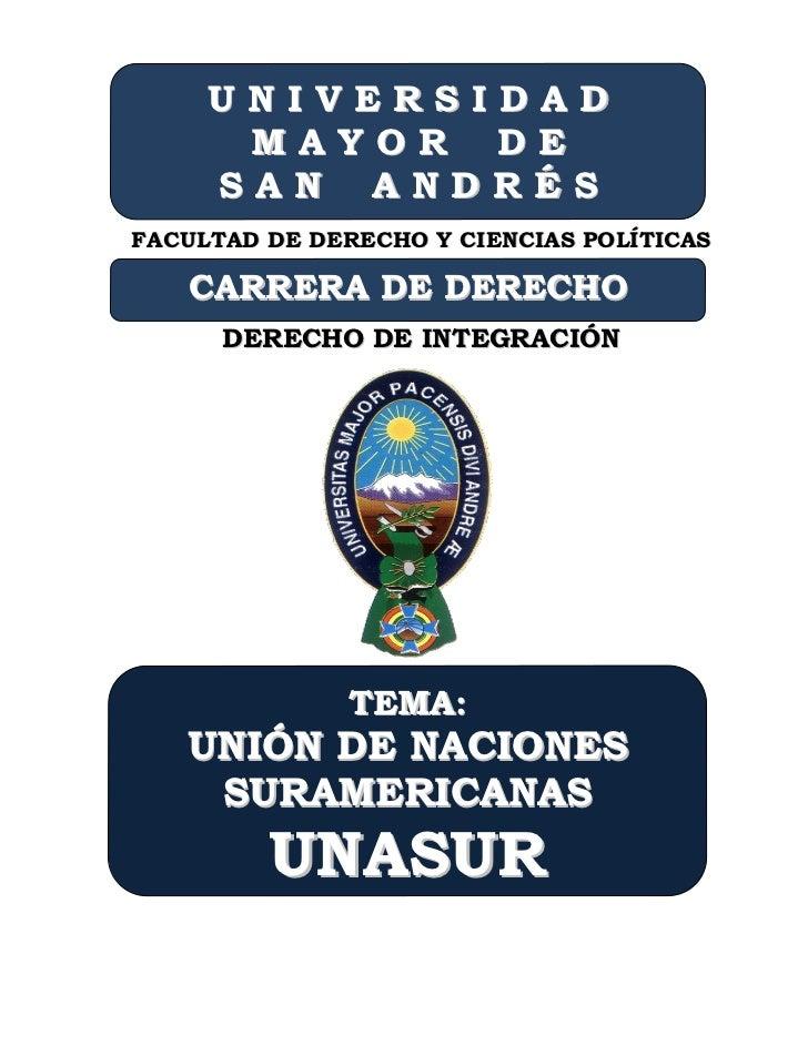 UNIVERSIDAD      MAYOR DE     SAN ANDRÉSFACULTAD DE DERECHO Y CIENCIAS POLÍTICAS   CARRERA DE DERECHO      DERECHO DE INTE...