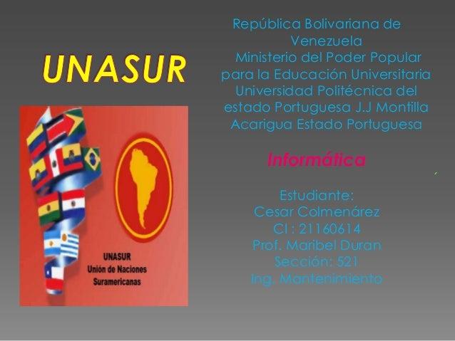 República Bolivariana deVenezuelaMinisterio del Poder Popularpara la Educación UniversitariaUniversidad Politécnica delest...