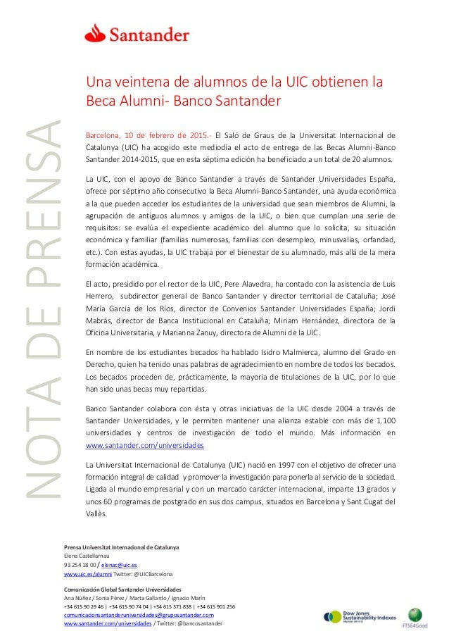 Prensa Universitat Internacional de Catalunya Elena Castellarnau 93 254 18 00 / elenac@uic.es www.uic.es/alumni Twitter: @...