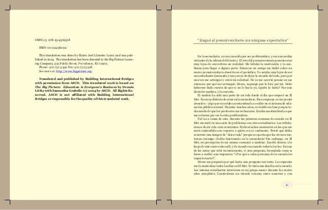 Una verdad irrefutable   Dennis Littky  in SPANISH Slide 3