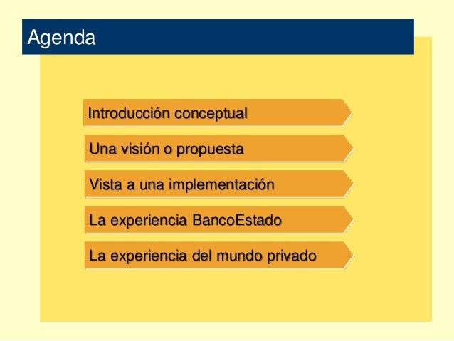 Una visión integrada para el estado de chile Slide 2