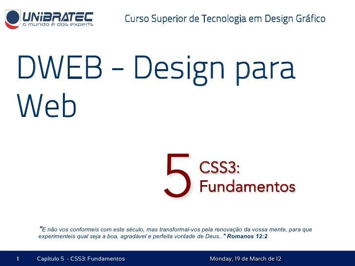 Curso Superior de Tecnologia em Design GráficoDWEB - Design paraWeb                                                5      ...