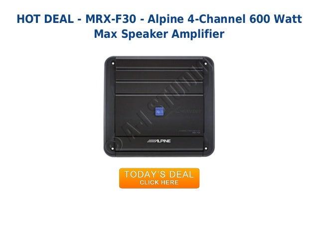 Unbeatable price mrx-f30 - alpine 4-channel 600 watt max