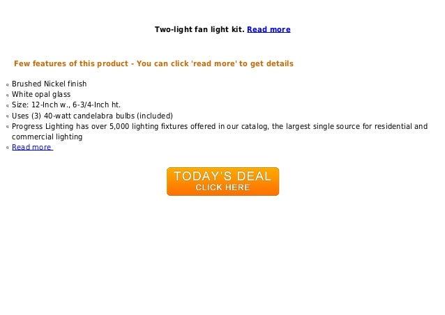 Progress Lighting Inspiration 2 Light Brushed Nickel: Unbeatable Price Progress Lighting P2622-09 Two-light