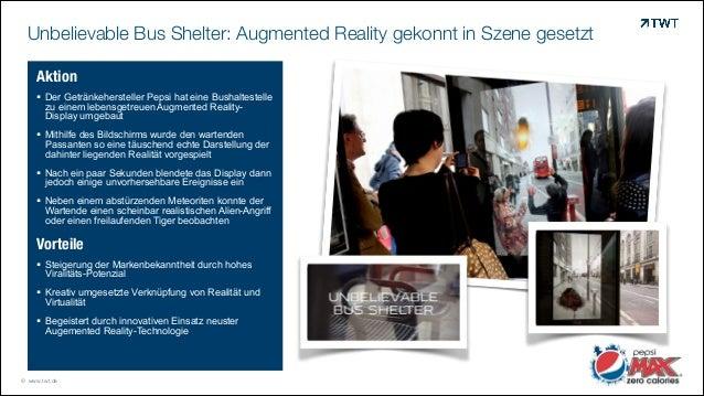 Unbelievable Bus Shelter: Augmented Reality gekonnt in Szene gesetzt © www.twt.de Aktion ! Der Getränkehersteller Pepsi ha...