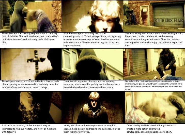 The violence in the opening sequence would be a key             With the concept of adapting the typical                 T...