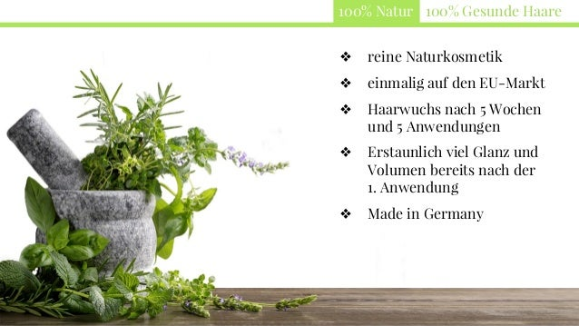 100% Natur 100% Gesunde Haare ❖ reine Naturkosmetik ❖ einmalig auf den EU-Markt ❖ Haarwuchs nach 5 Wochen und 5 Anwendunge...