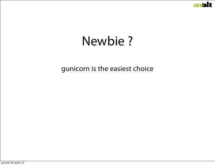 Newbie ? gunicorn is the