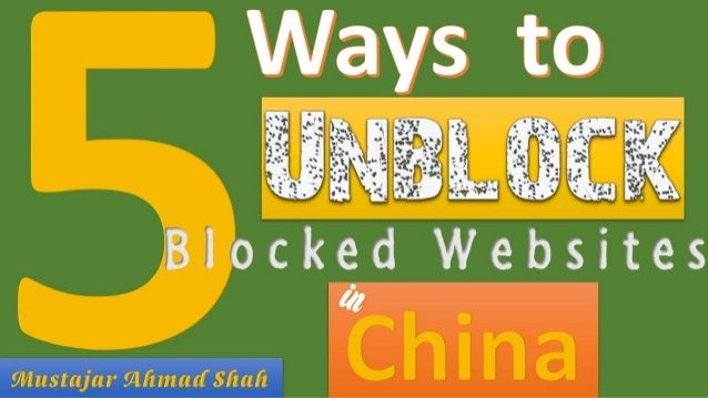 Unblock all the blocked sites in china ccuart Images