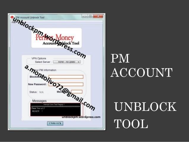 PM ACCOUNT UNBLOCK TOOL