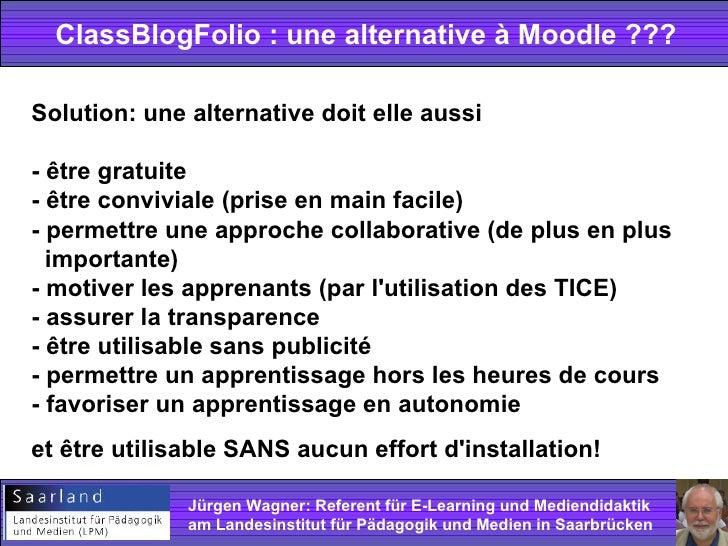 Un blog de_classe_comme_alternative_a_moodle Slide 2