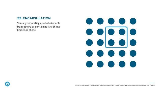 ATTENTION-DRIVEN DESIGN: 23 VISUAL PRINCIPLES FOR DESIGNING MORE PERSUASIVE LANDING PAGES 22. ENCAPSULATION Visually separ...