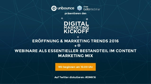 ERÖFFNUNG & MARKETING TRENDS 2016 +