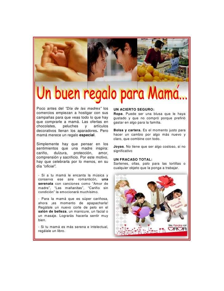 """Poco antes del """"Día de las madres"""" los       UN ACIERTO SEGURO:comercios empiezan a hostigar con sus       Ropa. Puede se..."""