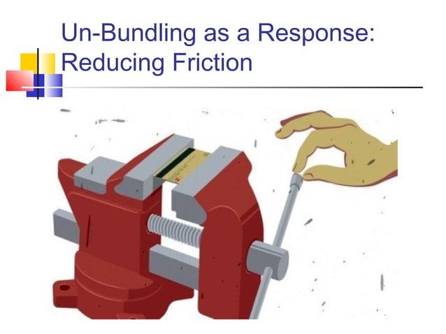 Un-Bundling as a Response:Reducing Friction                             13
