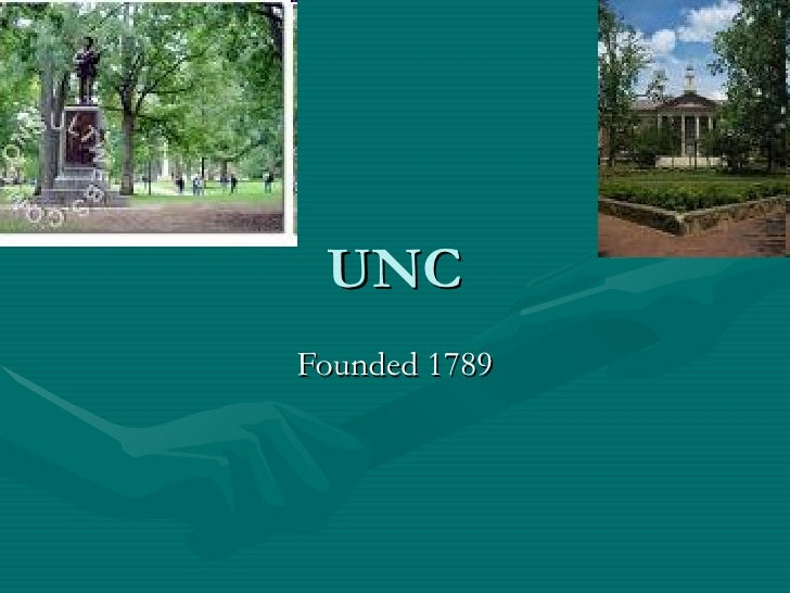 UNC Founded 1789