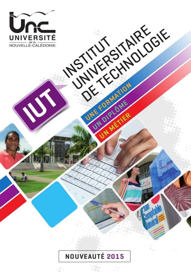 Une form ation Un diplôm e Un m étier IUT Institut Universitaire de Technologie nouveauté 2015