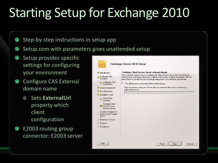 UNC301 - Microsoft Exchange Server 2010 Upgrade and Coexistence with …