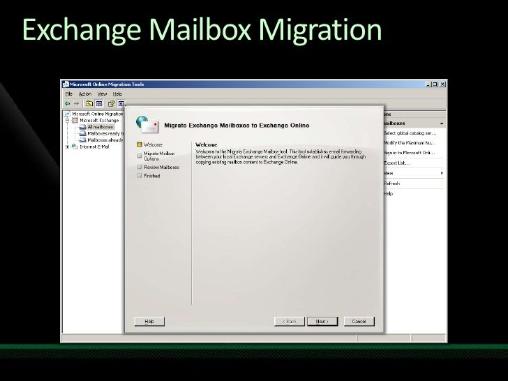 Migration to Microsoft Online Services from Exchange and Non