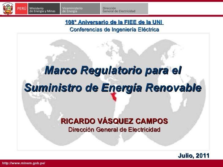 108° Aniversario de la FIEE de la UNI                            Conferencias de Ingeniería Eléctrica                     ...