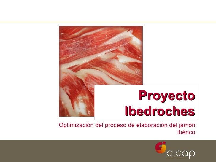 Proyecto Ibedroches Optimización del proceso de elaboración del jamón Ibérico