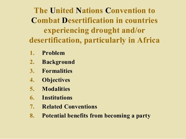 UNCCD: Its implementation in Namibia Slide 3