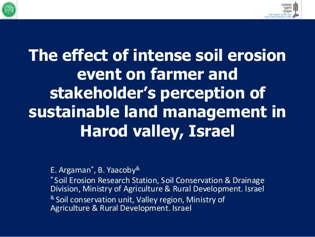 The effect of intense soil erosion      event on farmer and  stakeholder's perception ofsustainable land management in    ...